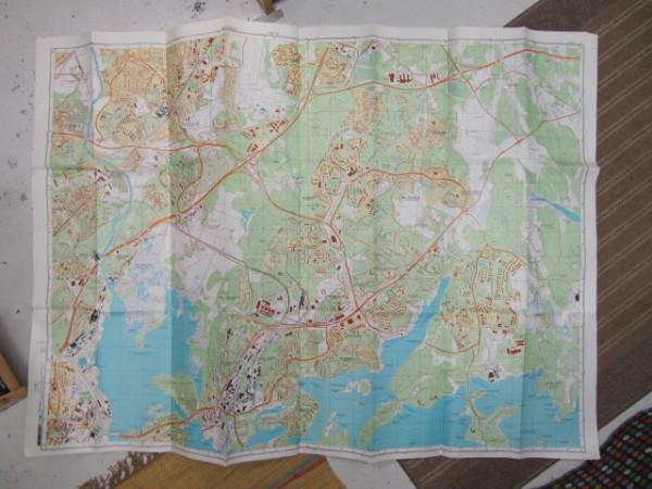 Miehityskartta Helsinki lehti 4/6 1:10.000 1989 (alue Tuomarinkartano - Hermanni - Uutela - Sandbacka) - - - tuotekuva