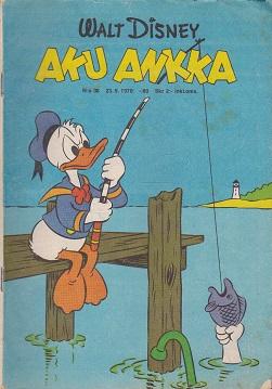 Aku Ankka N:o 38 1970 - Disney Walt tuotekuva