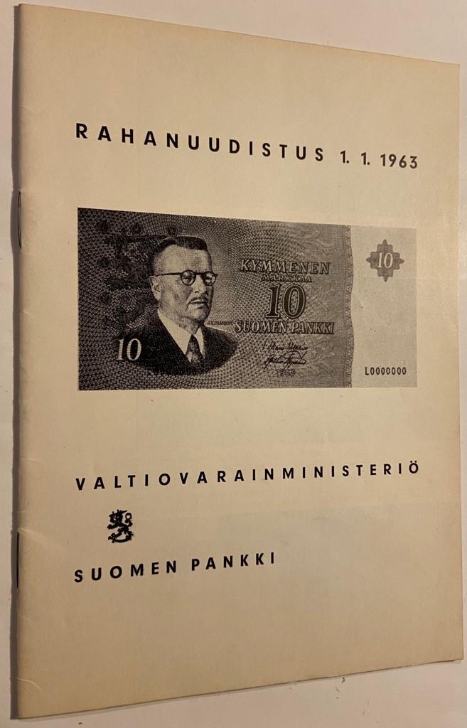 Rahanuudistus 1.1.1963 -  tuotekuva