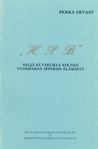 H. P. B. - Ervast Pekka tuotekuva