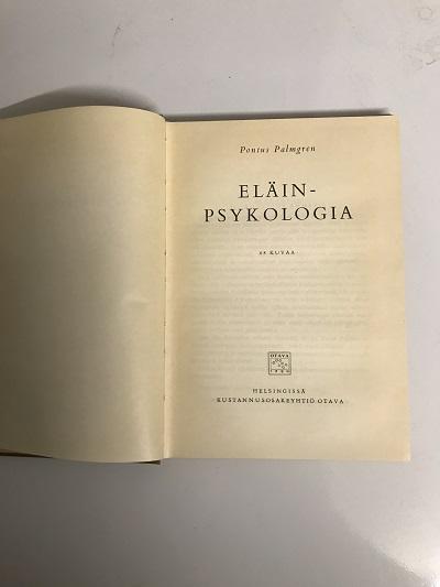 Eläinpsykologia - Palmgren Pontus tuotekuva